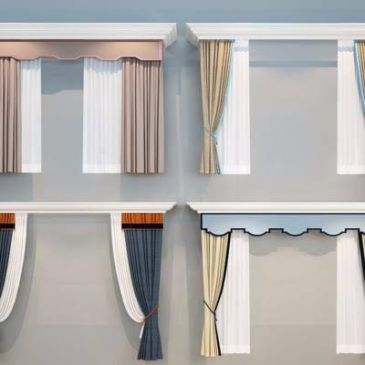 窗帘, 新中式, 中式