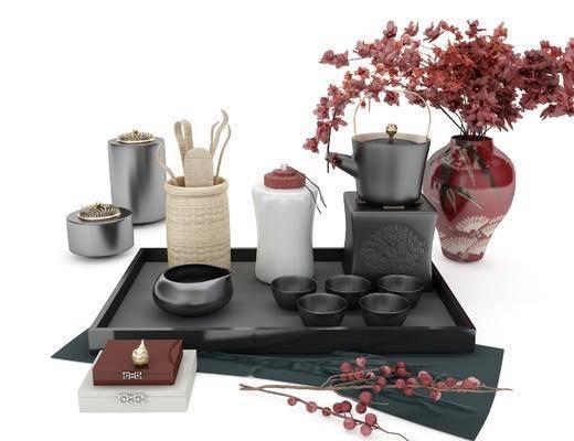茶具, 摆件组合, 装饰品