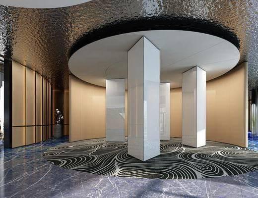后现代, 公司, 电梯间