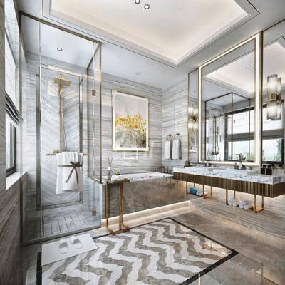 衛浴, 洗浴組合, 裝飾畫, 洗手盆, 浴室