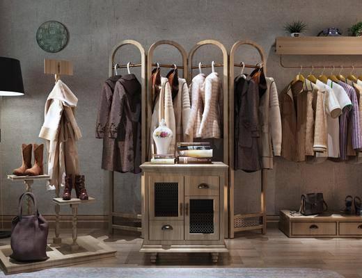 展示架, 装饰架, 落地灯, 鞋架, 服饰, 墙饰, 工业风