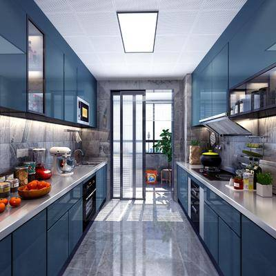 北欧厨房, 现代厨房, 厨柜, 厨具