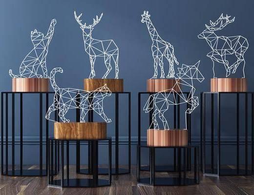 现代创意动物灯, 现代台灯, 动物灯, 现代