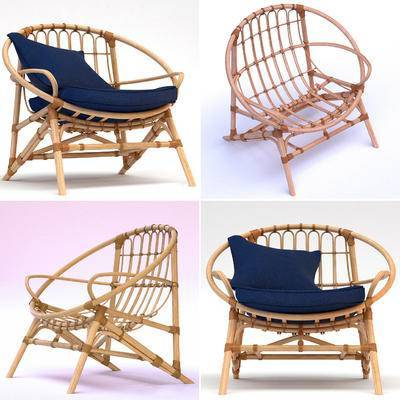 藤编, 户外椅, 现代, 藤椅, 休闲椅