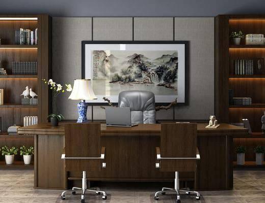 新中式辦公室, 辦公室, 辦公桌