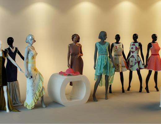 模特, 服装, 服装专卖店
