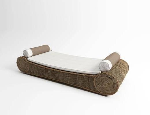 现代, 户外, 藤椅, 贵妃椅