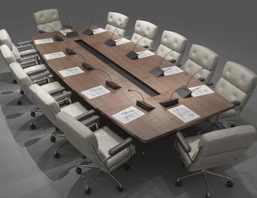 会议桌椅组合, 新中式