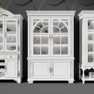 酒柜, 置物柜, 碗碟柜, 法式, 简欧, 简美