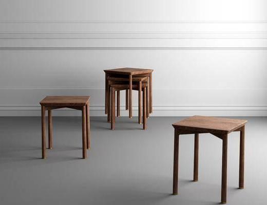 凳子组合, 单人坐凳, 坐凳板凳, 中式
