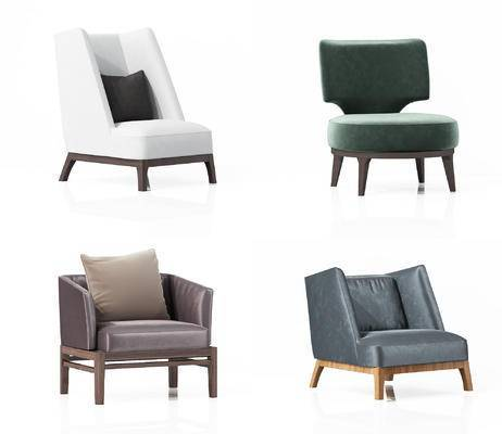 现代, 单椅, 沙发, 单人沙发