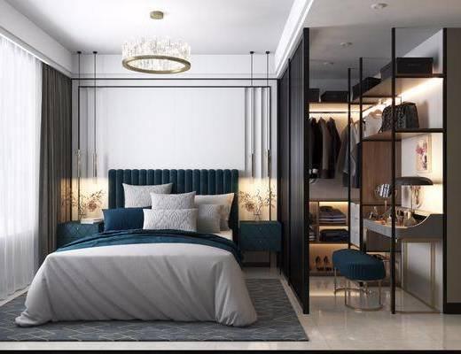 卧室, 轻奢卧室, 简欧卧室