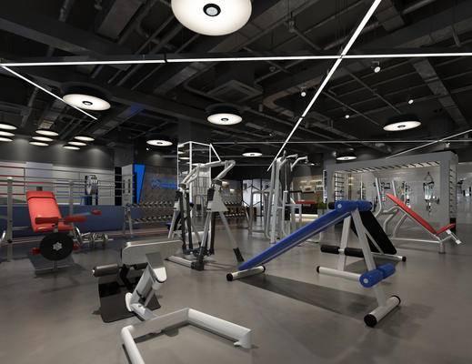 健身房, 健身室, 健身器材, 现代