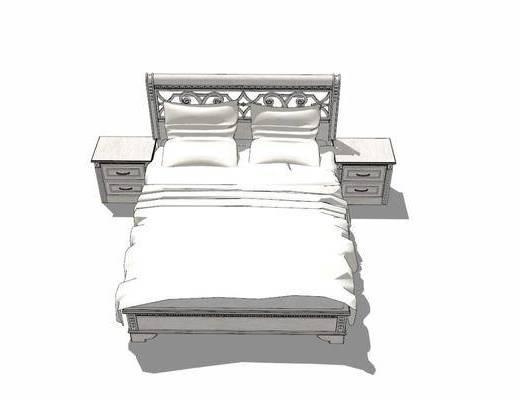 双人床, 床具组合, 床头柜