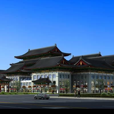 中式园林建筑, 古建, 外观, 外景