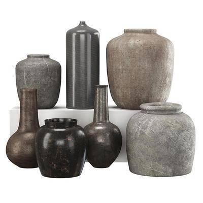 现代陶罐工艺品摆件
