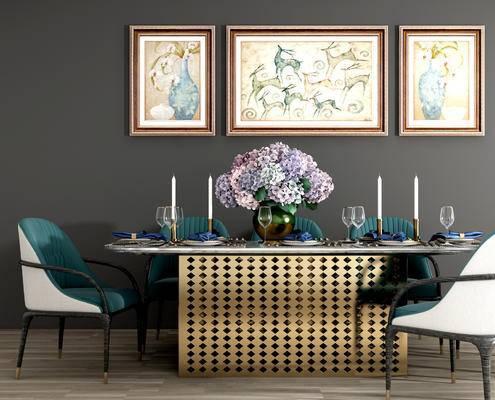 餐桌椅, 摆件, 餐具