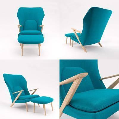 椅子, 单椅, 单人沙发, 现代椅子