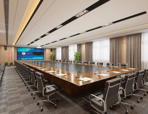 学校会议室, 会议桌椅组合, 办公桌椅组合, 现代
