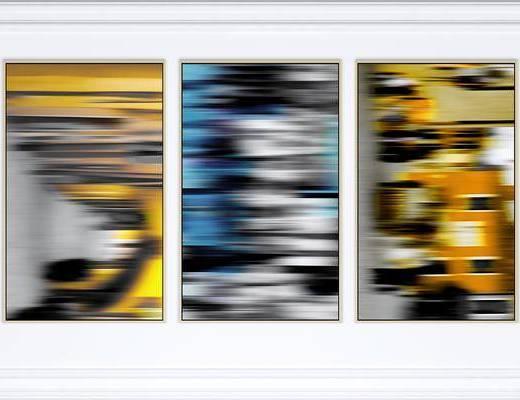 挂画, 装饰画, 抽象画, 现代