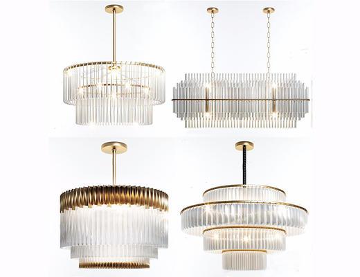 现代简约, 吊灯, 大型吊灯, 灯具组合