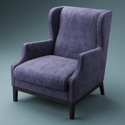 沙发, 单人沙发, 布艺沙发, 现代