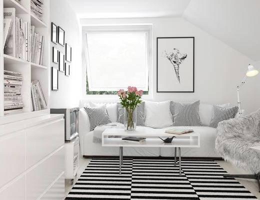 沙发, 现代沙发, 北欧沙发, 沙发组合, 沙发茶几组合, 北欧