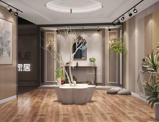 展厅, 展览, 展会, 家具展, 背景墙, 中式