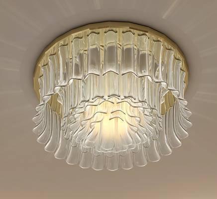 现代玻璃吸顶灯, 卧室吸顶灯, 简约吸顶灯, 创意吸顶灯, 精美吸顶灯