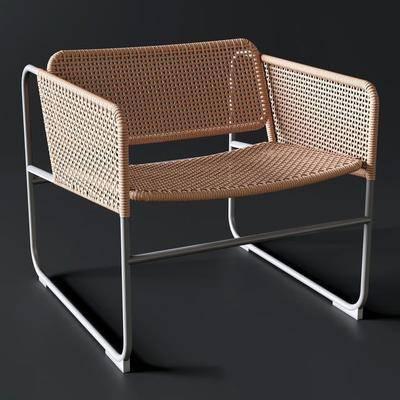 休闲椅, 单椅, 藤椅