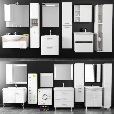 浴室, 柜架组合, 卫浴, 洗浴用品