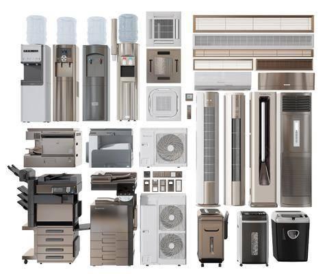 家电空调洗衣机饮水机打印机组合