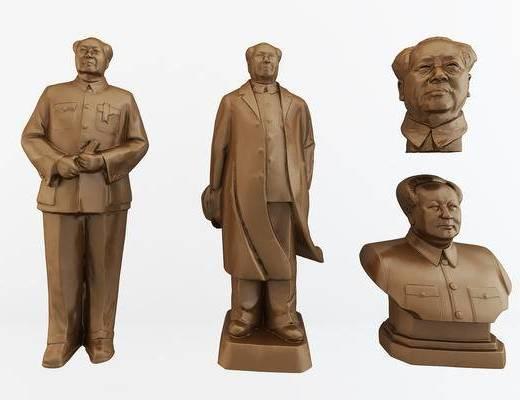 毛主席雕像, 毛泽东雕塑, 人物雕刻