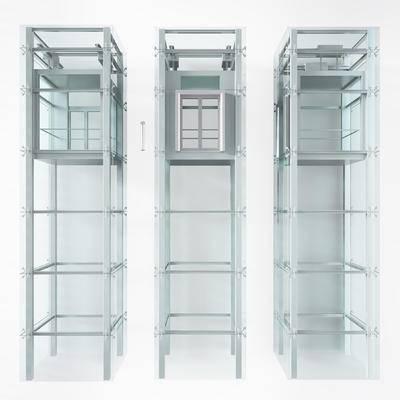 电梯, 升降梯, 升降电梯, 现代, 观光电梯, 简约, 模型