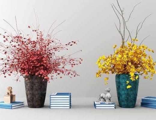 盆栽花卉, 花瓶花卉, 新中式