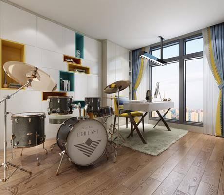 书桌架子鼓, 现代