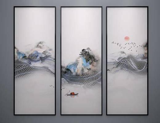 中式, 挂画, 风景画
