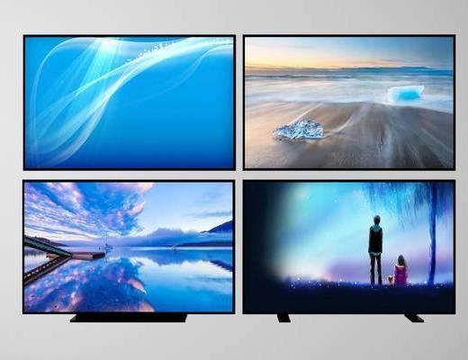 液晶电视, 电视模型, 现代