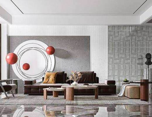现代, 客厅, 家装