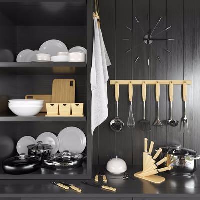 橱柜, 厨具, 餐具, 现代