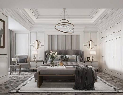 吊燈, 壁燈, 臺燈, 雙人床, 床具組合, 衣柜