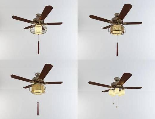 中式吊扇灯, 灯具