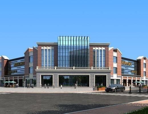 商業, 超市綜合體, 購物廣場