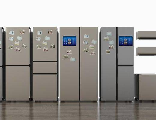 智能冰箱, 空调组合, 家用电器, 现代