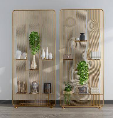 屏風隔斷, 金屬屏風, 擺件, 裝飾品, 陳設品, 現代