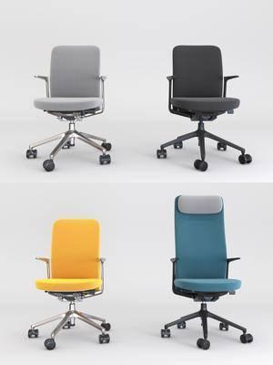 办公椅, 职员椅, 单人椅, 现代