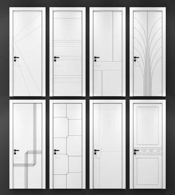 现代木纹, 白色木门, 房门