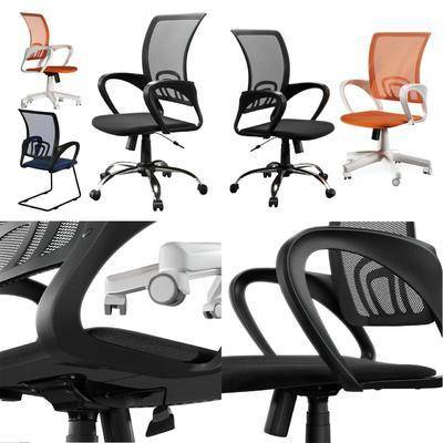 电脑椅, 办公椅, 软装, 家具, 3D模型