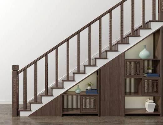 楼梯, 储物柜, 新中式