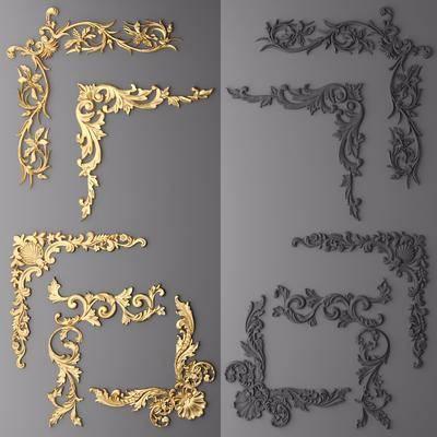 雕花, 金属雕花, 欧式